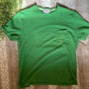 Rag & Bone Green Men's Pocket Tee Cotton Shirt